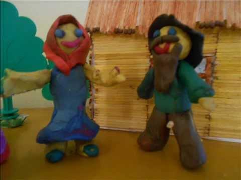 Пластилиновые картинки по мотивам сказки Колобок