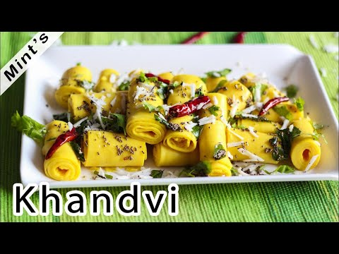 Khandvi Recipe | Gujrati Vegetarian Recipes