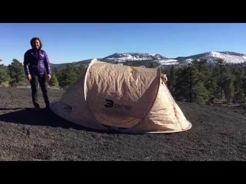 Kande from Adventure Driven sets up the Malamoo 3 second tent by OZ Tent & Kande from Adventure Driven sets up the Malamoo 3 second tent by ...