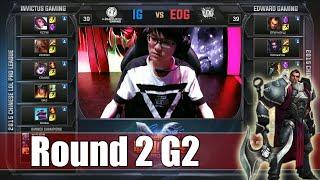 Edward Gaming vs Invictus Gaming | Game 2 Round 2 LPL Regional Qualifier 2015 | EDG vs IG G2 R2