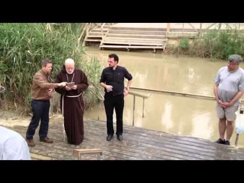 Priests of the Archdiocese of Boston join Cardinal Seán renew baptismal vows in Jordan River