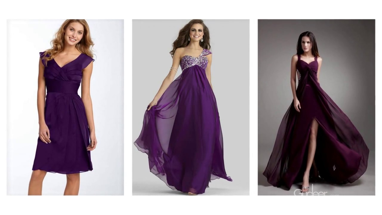 Top 100 Most beautiful purple evening dresses for women - YouTube