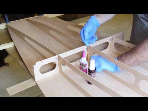 Boardman 14 SUP Construction Video #8: Fastening the Frame to the Bottom