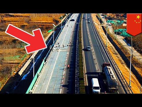Solar highways: Solar road gets tested in east China - TomoNews