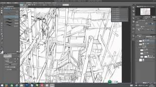 Clip Studio Paint 3 point perspective 3点透视 超広角 魚眼レンズ 背景の書き方 场景是怎样炼成的系列