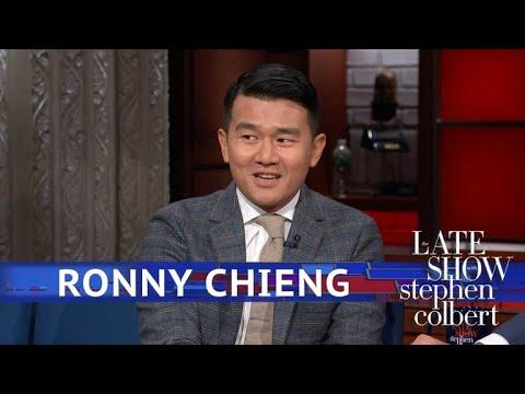 Ronny Chieng Brings Stephen A 'Colbert Report' Souvenir