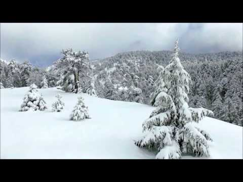 Troodos mount  with lots of snow winter 2017