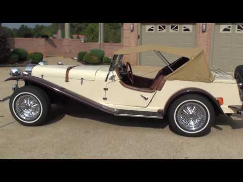 HD VIDEO 1929 MERCEDES SSK REPLICA KIT CAR VW ENGINE FOR SALE SEE WWW SUNSETMOTORS COM