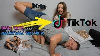 Uczę TATĘ Nagrywać TIKTOKa - tato pokazał... XD #tiktok #musical.ly