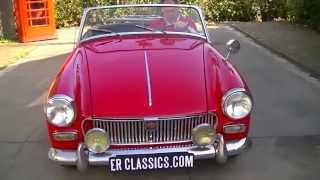 MG Midget 1965 revised matching engine-VIDEO- www.ERclassics.com