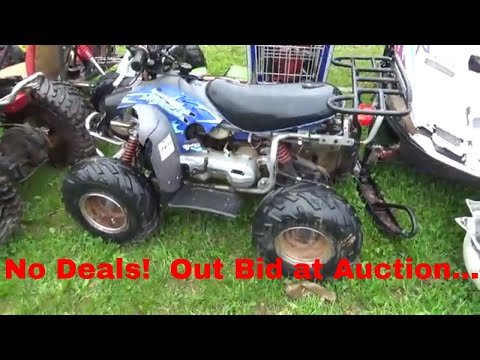 Old Auction Video, Golf Carts, GY6 ATV Off Road Go Cart, I bid on,