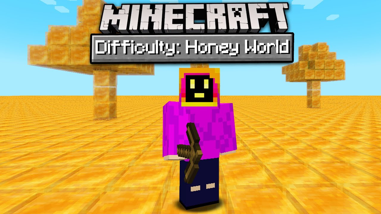 Can You Beat Minecraft In A Honey Only World?