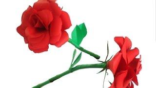 Flores de papel  facil. Como hacer una rosa. Manualidad para el día de las madres