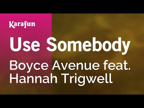Karaoke Use Somebody - Boyce Avenue *