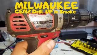 Milwaukee M18 BPD GEN2 drill went up in smoke Tear down video