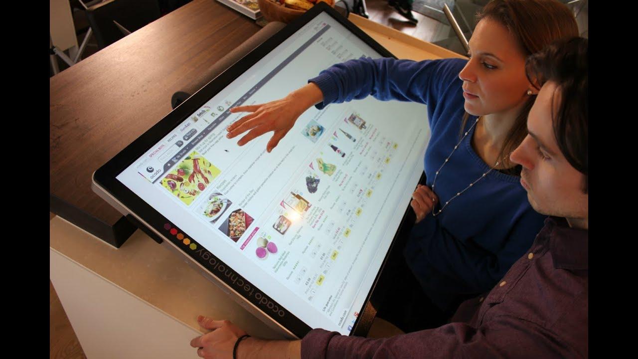 "World's largest tablet: Ocado Technology's 42"" sLablet"