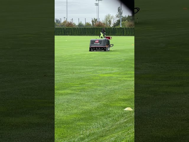 Aerating the MLS Vancouver Whitecaps training centre fields with the TORO Procore 648 #shorts