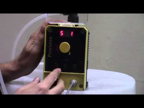 How to Program Precision-24 Pulse Metering Pump with Stroke Knob