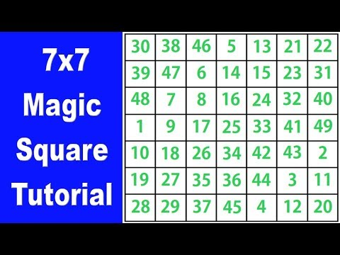 11x11 Magic Square - How To Solve a 11x11 Magic Square - How