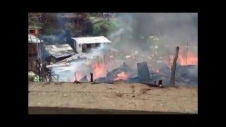 Impresionante Incendio en Santa Rosa de Cabal - Barrio la Hermosa