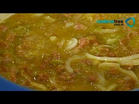 Receta de longaniza en salsa verde con papas. Receta de comida ...
