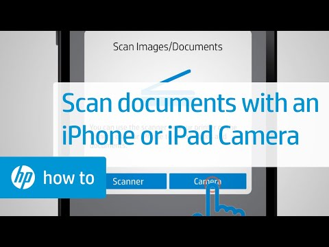 Scanning Documents Using an iPhone or iPad Camera (Apple iOS) | HP
