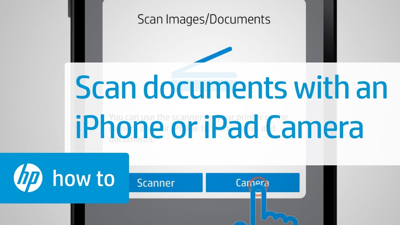 Scanning Documents Using an iPhone or iPad Camera (Apple iOS) | HP Printers  | HP