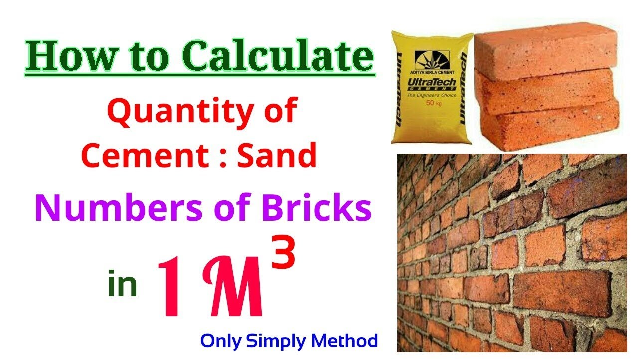 How many bricks in 1 m3 Standard brick size 90