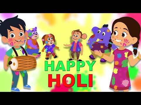 Holi Me Mach Gaya Dhamaal  | Holi Song For Kids | Hindi Rhymes | Kids Tv Hindi Rhymes