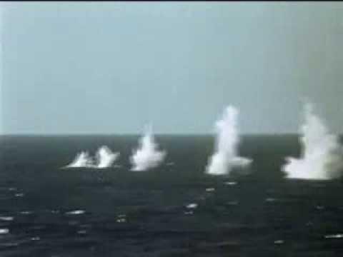 Massive Attack On Submarine (1962) ♦ Stock Footage