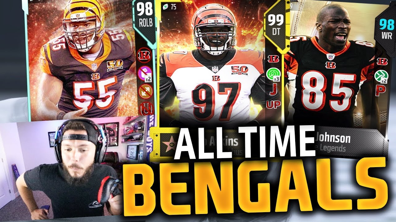 ALL TIME CINCINNATI BENGALS SQUAD BUILDER | MADDEN 18 GAMEPLAY YouTube