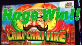Huge Win!! Chili Chili Fire Slot Machine, Live play, Max Bet Bonus,Slot Machine Bonus,Konami