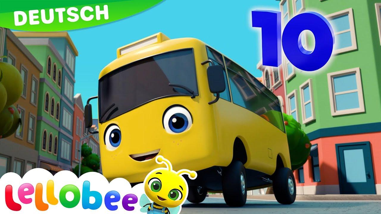 Zehn kleine Busse | Lellobee - Kinderlieder und Cartoons | Lellobee Deutsch