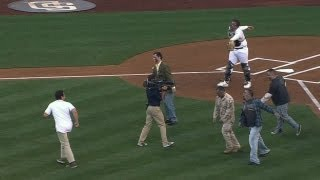 Zombies take over first pitch at Petco Park