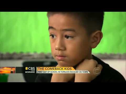 Back to school for kids in tornado ravaged Moore, Okla    CBS News Video