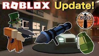 New Roblox Jailbreak Explosives and Crime Boss Update! (Grenades, Rocket Launcher, and Miniguns!)