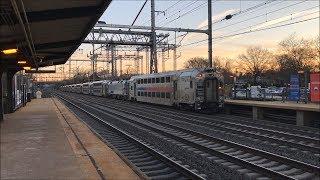 Amtrak & NJ Transit HD 60fps: Northeast Corridor Sunrise @ Princeton Junction (1/11/19)