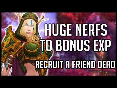 HUGE NERFS TO BONUS EXP - RAF and Heirloom Changes | World of Warcraft Legion