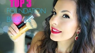 My TOP 3 Foundation Brushes / Applicators + DEMO