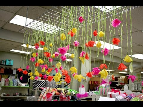 How to Make a Paper Floral Curtain  PS Stores Seattle