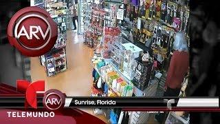 Dueño de tienda de cosméticos se enfrenta a un ladrón | Al Rojo Vivo | Telemundo