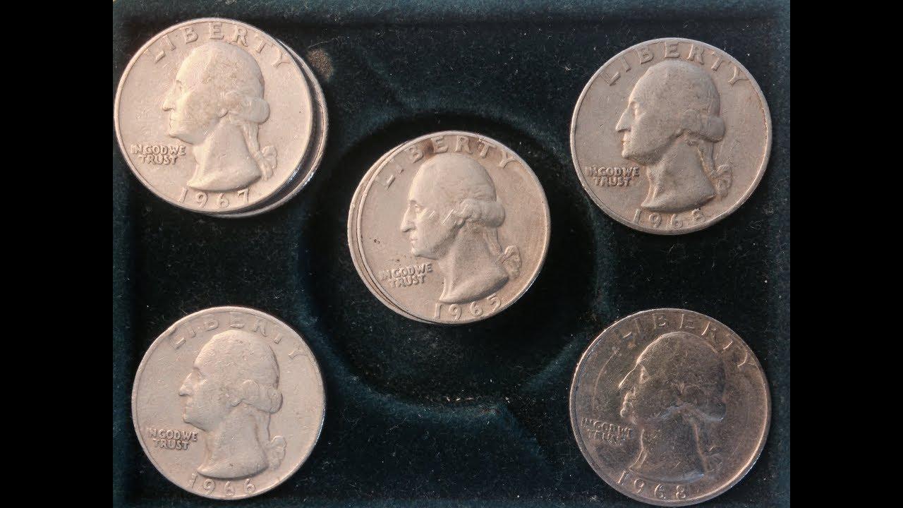 1965, 1966, 1967, 1968 United States Quarters