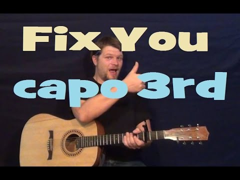 Fix You (Boyce Avenue/Coldplay) Guitar Lesson Strum Chords How to Play Capo 3rd
