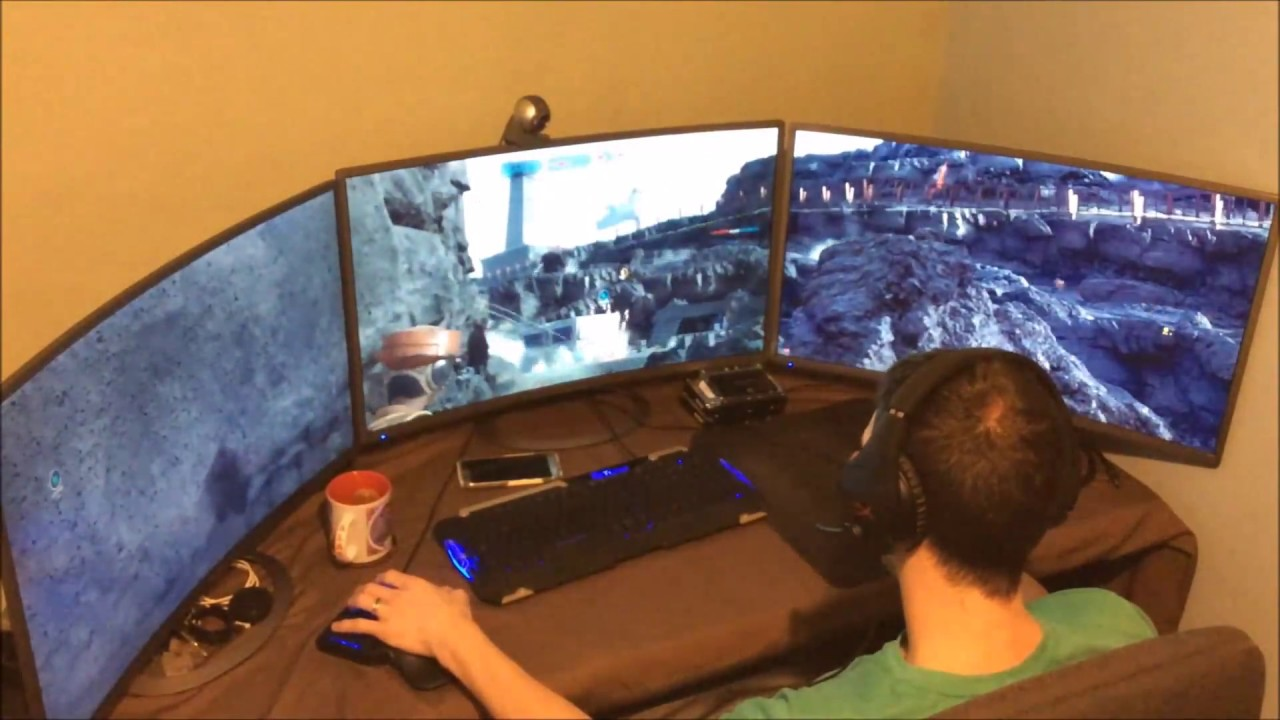 Gaming On 3 Sceptre 32 Quot Curved Monitors Youtube
