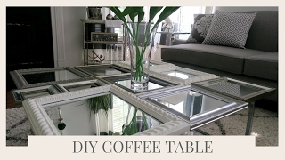 SIMPLE HOME DECOR IDEA & TUTORIAL   DIY COFFEE TABLE USING PICTURE FRAMES