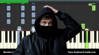 Download Alan Walker Diamond Heart ft. Sophia Somajo Piano Tutorial with Chords Mp3
