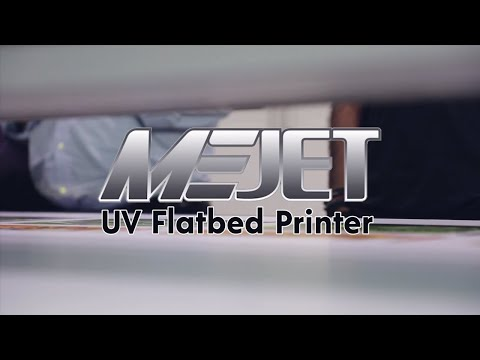 Printing samples on MEJET UV Flatbed printer