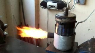 Мини горелка на пара и масло