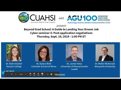 2019: Beyond Grad School: A Guide To Landing Your Dream Job