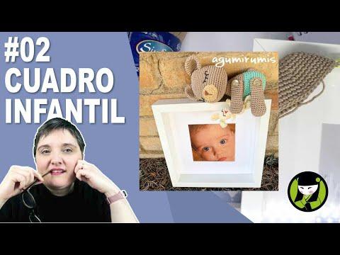 CUADRO INFANTIL AMIGURUMI 2 paso a paso
